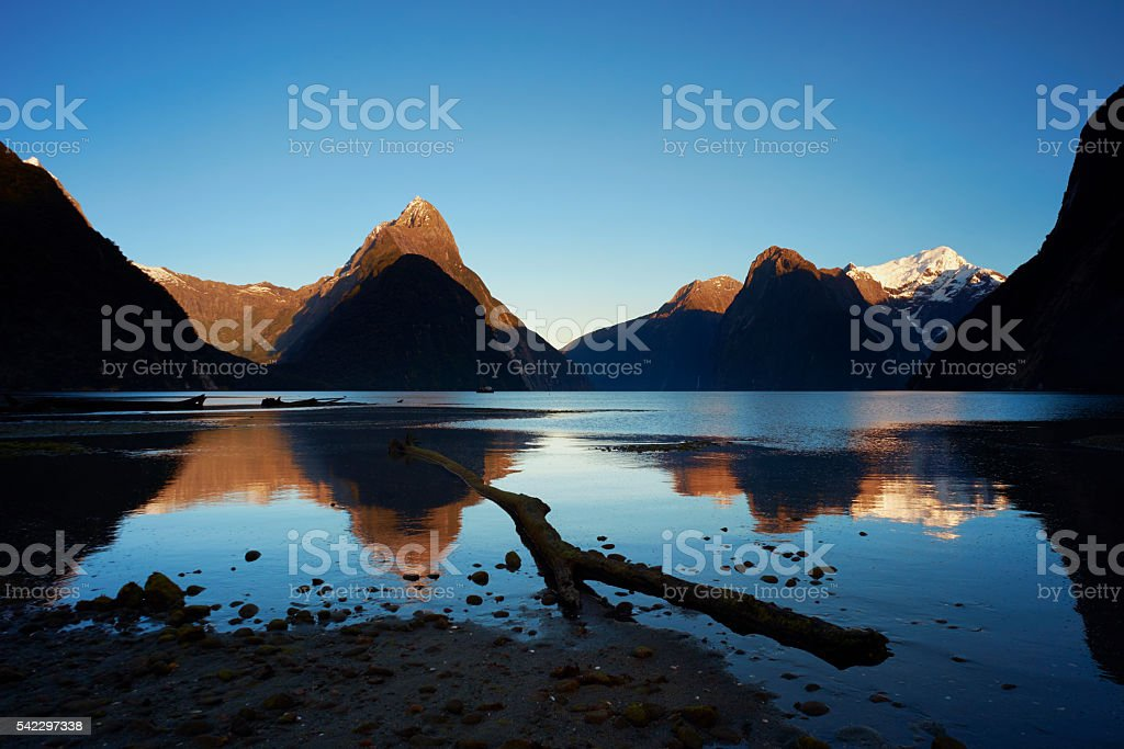 The Beauty Of Milford Sound stock photo
