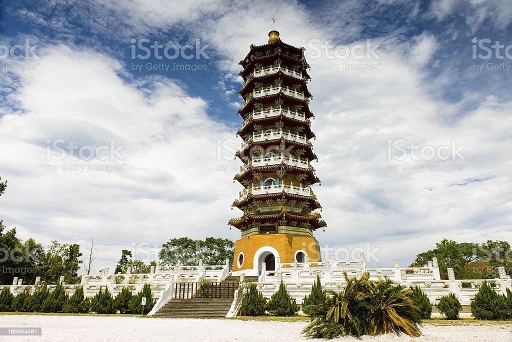 The beauty of Pa Cien Pagoda stock photo