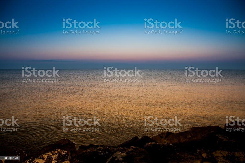 The beauty of the Adriatic Sea. Fano Italy stock photo