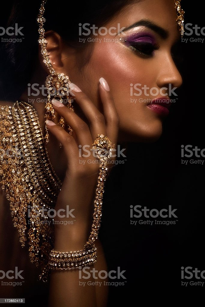 The beauty of the Indian woman stock photo