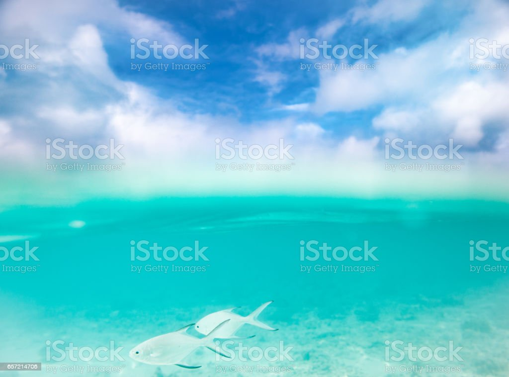 The Beauty Of The Sea And Sky - Cross Section stock photo