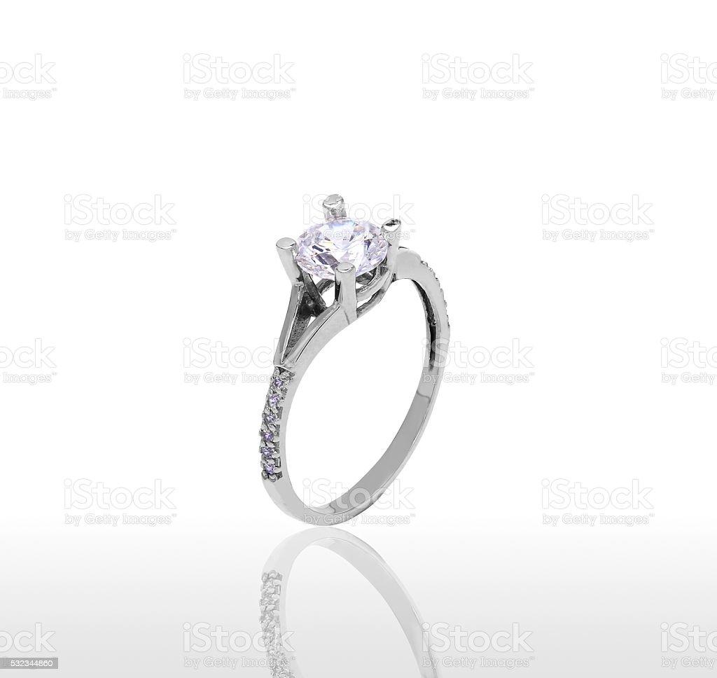 The beauty wedding ring. royalty-free stock photo