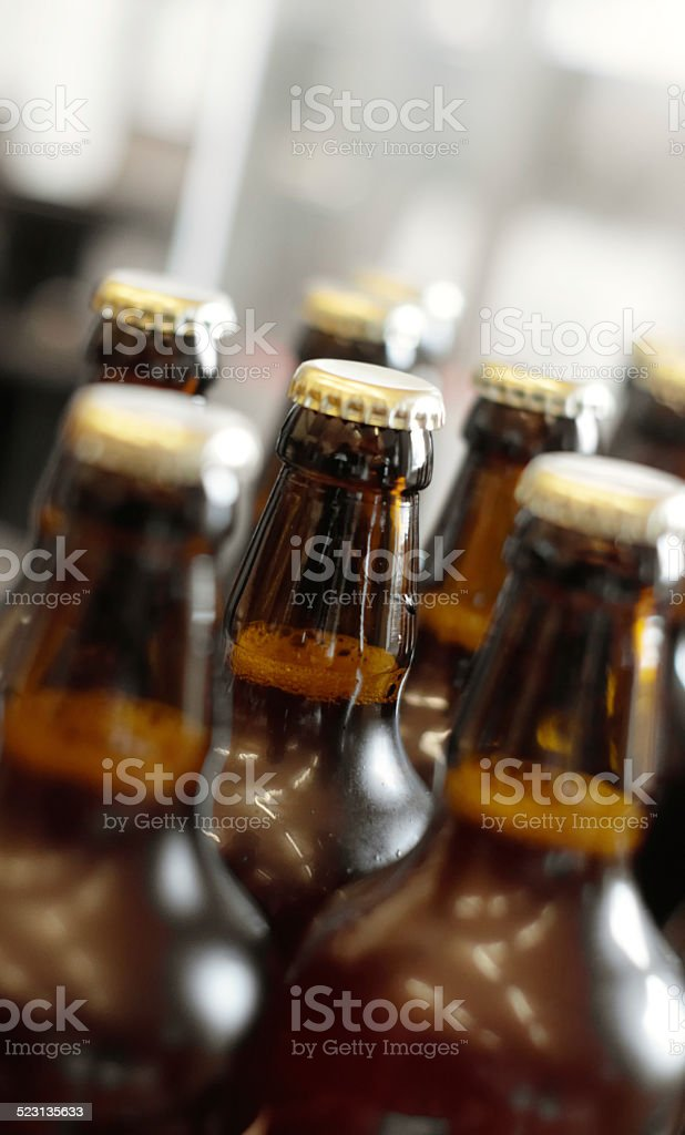 The beer is on its way! stock photo