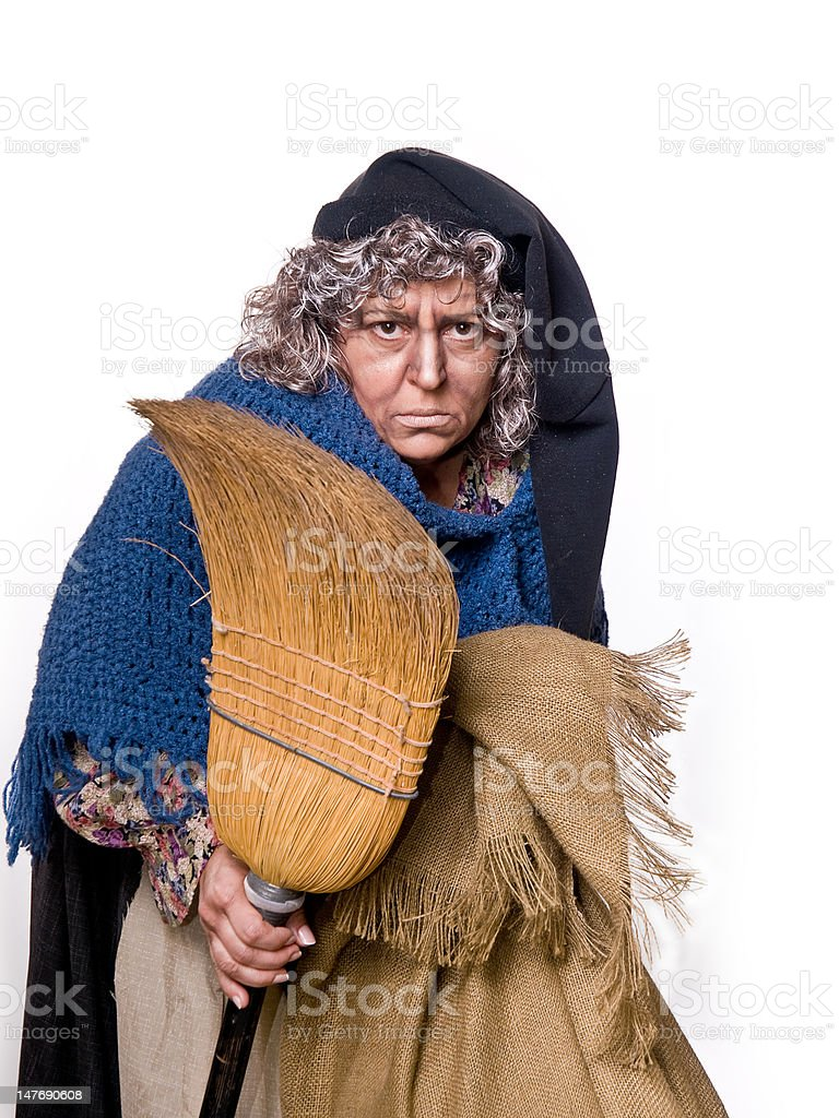 La Befana royalty-free stock photo