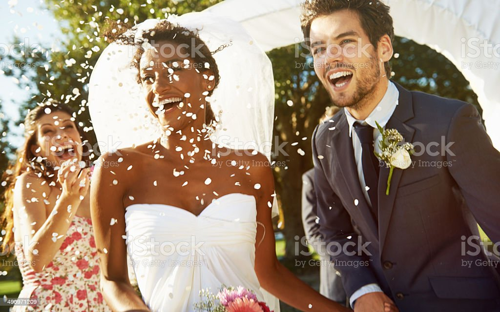 The begining of forever stock photo