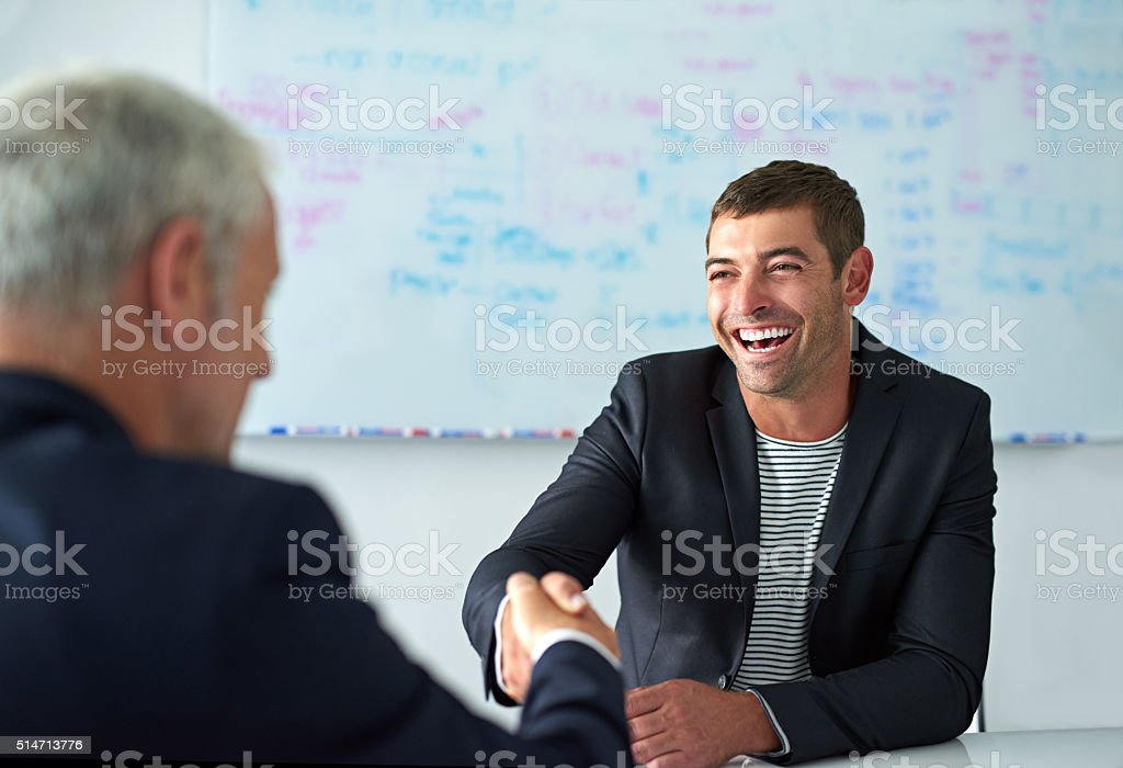 The beginning of a dream career stock photo