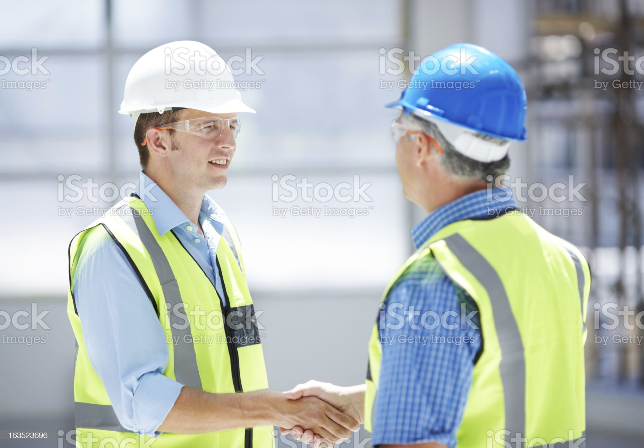 The beginning of a great business relationship royalty-free stock photo