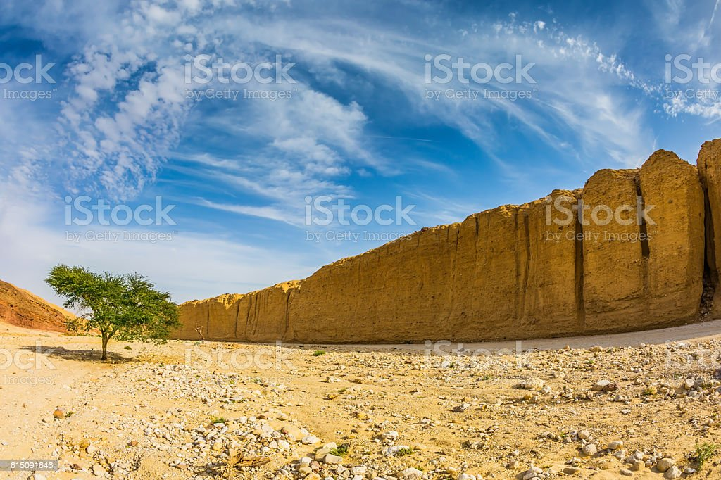 The beginning of Black Canyon stock photo
