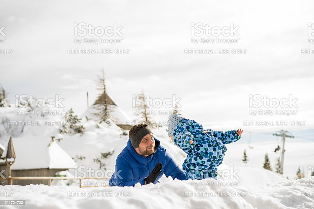 The beginning of new Peter Prevc The champion stock photo
