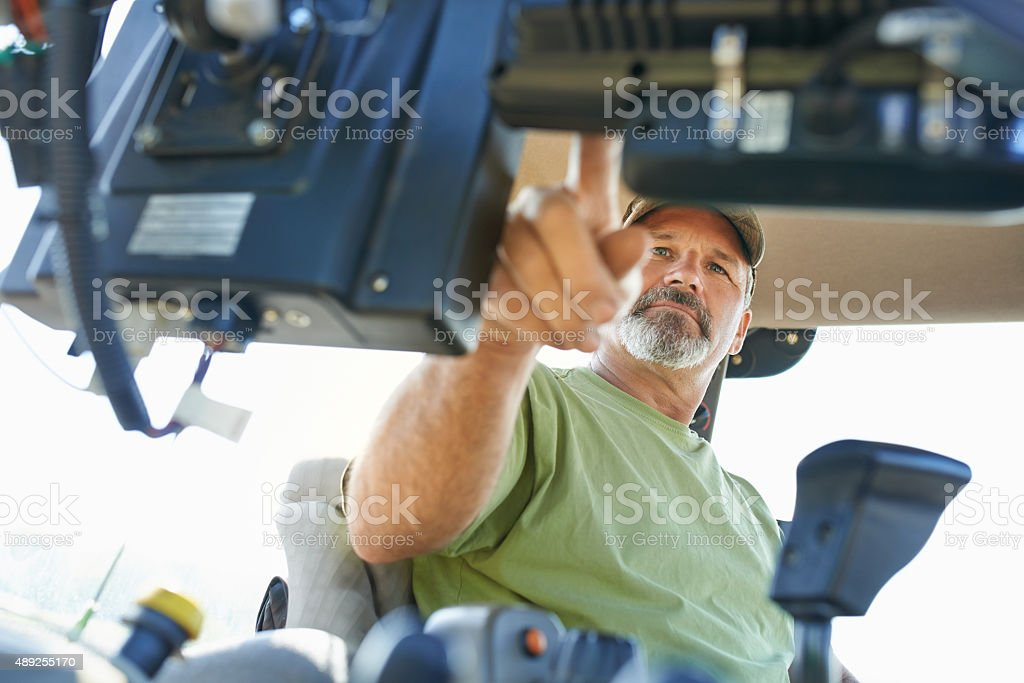 The beginning of the farming day stock photo