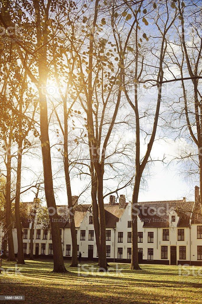 The Beguinage monastery, Bruges, Belgium stock photo