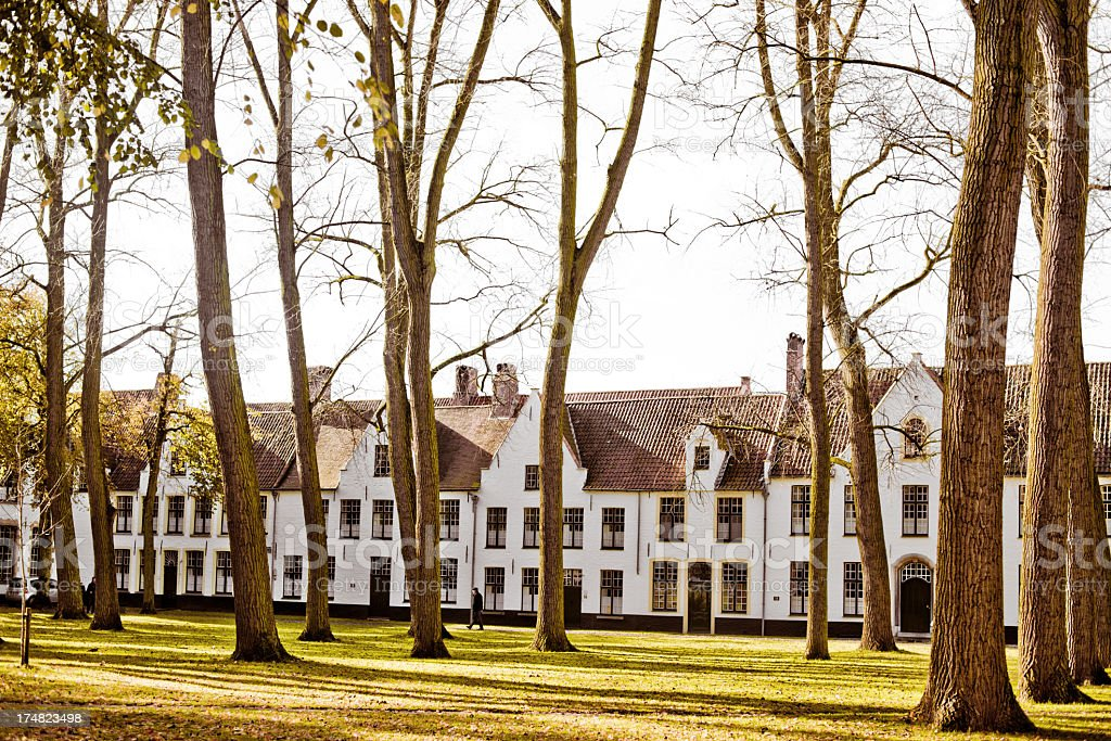 The Beguinage monastery, Bruges, Belgium royalty-free stock photo