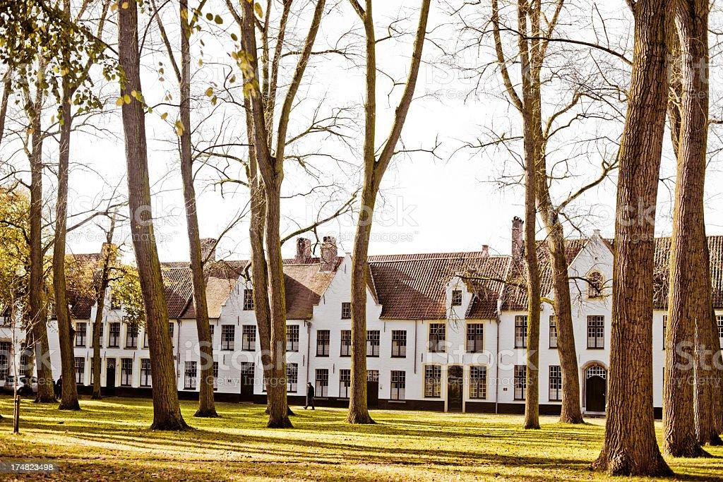 'The Beguinage monastery, Bruges, Belgium' stock photo