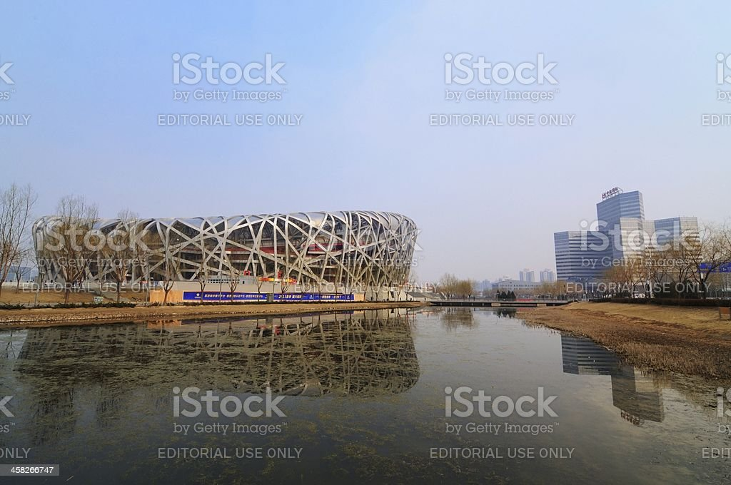 The Beijing National Stadium royalty-free stock photo