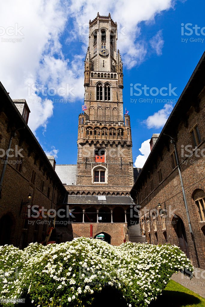 The Belfry in Market Square, Bruges. royalty-free stock photo