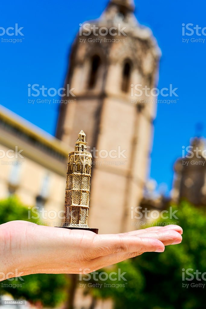 the belfry of the Cathedral of Valencia, in Valencia, Spain stock photo