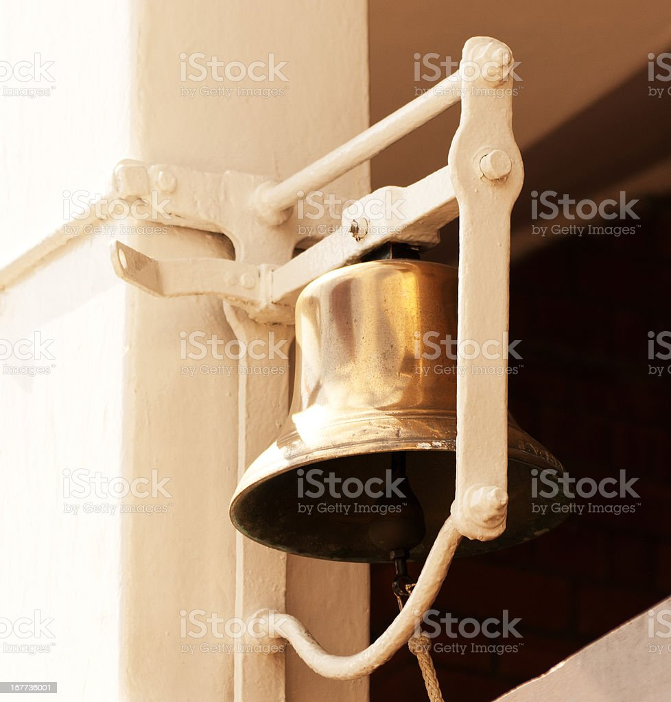 The bell at Lords cricket ground stock photo