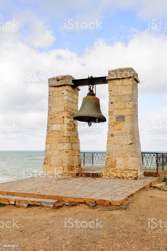 The Bell of Chersonesos in Chersonesos Taurica, Crimea, is the symbol of Chersonesos and one of the main sights of Sevastopol. stock photo