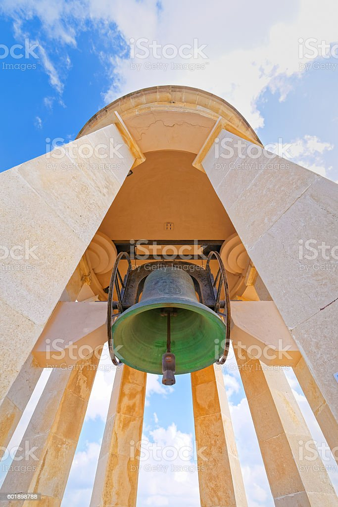 The bell of the siege of Malta, particularly stock photo