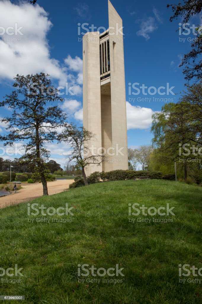 The bell tower (Carillon), Canberra stock photo