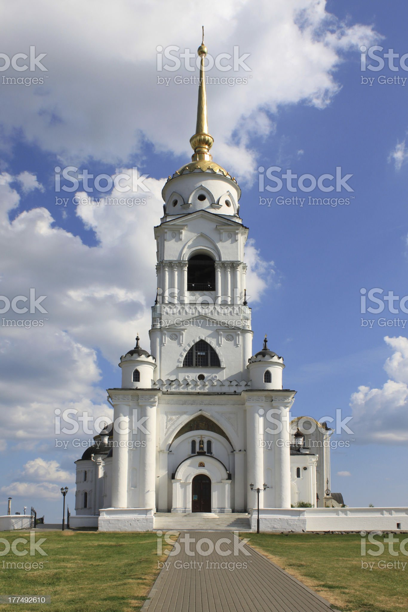 The bell tower in Vladimir royalty-free stock photo