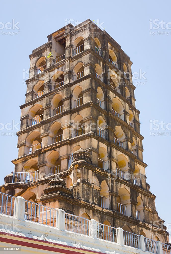 The Bell Tower of Thanjavur Palace. stock photo