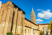 The bell tower of the Basilica of Saint Sernin, Toulouse