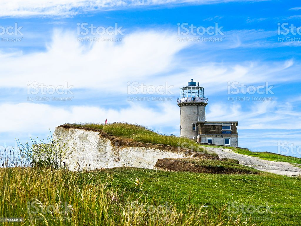 The Belle Tout lighthouse on top of Beachy Head stock photo
