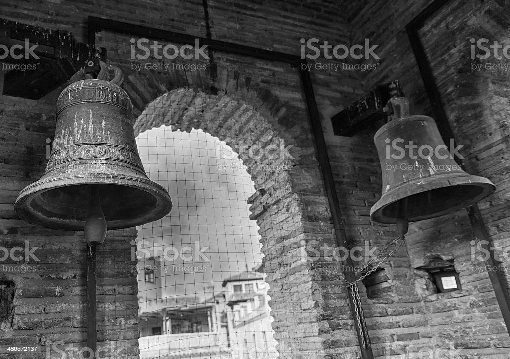 The bells  b/w stock photo
