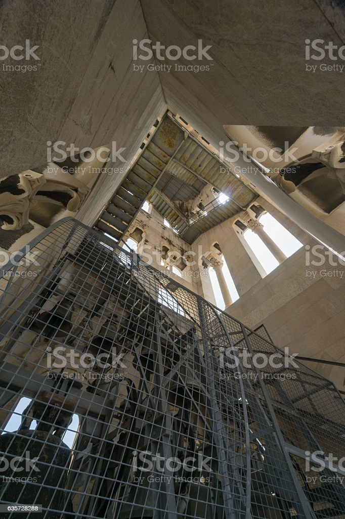 The Bells Inside the Bell Tower, Split, Croatia stock photo