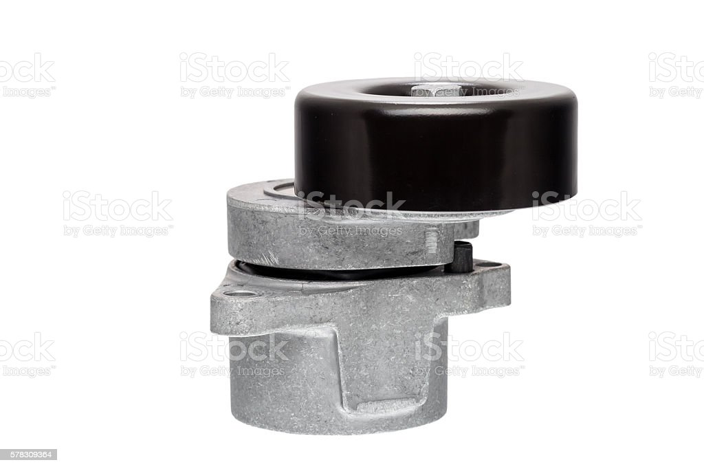 The Belt tensioner. stock photo