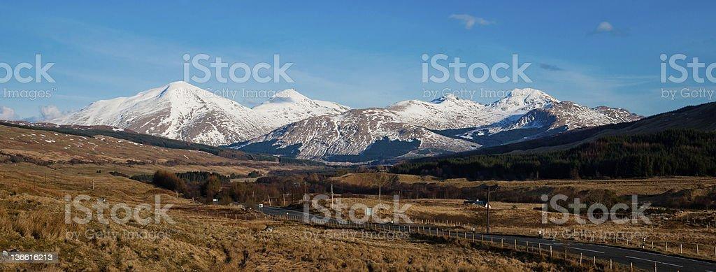 The Ben More Range from Tyndrum, Scotland stock photo