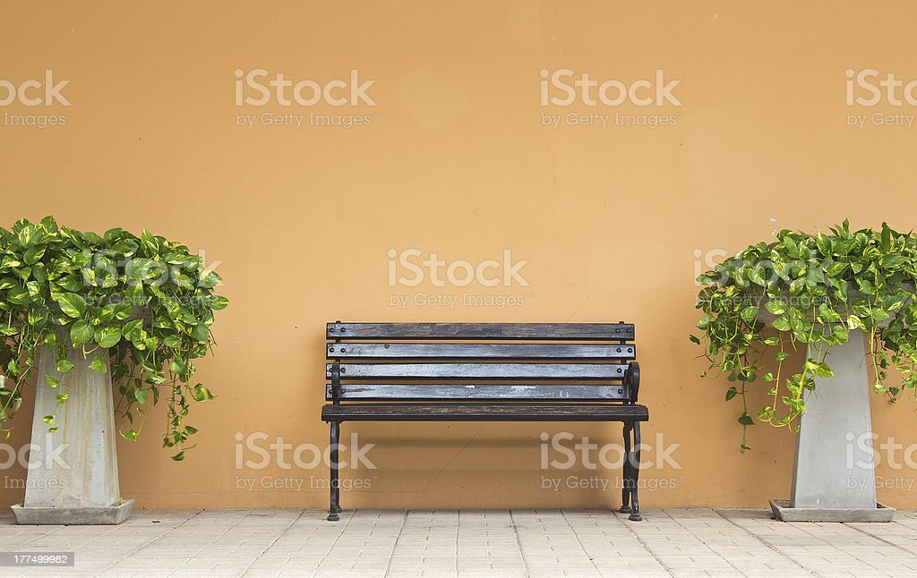 the bench in park royalty-free stock photo