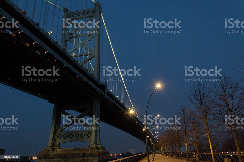 The Benjamin Franklin Bridge stock photo