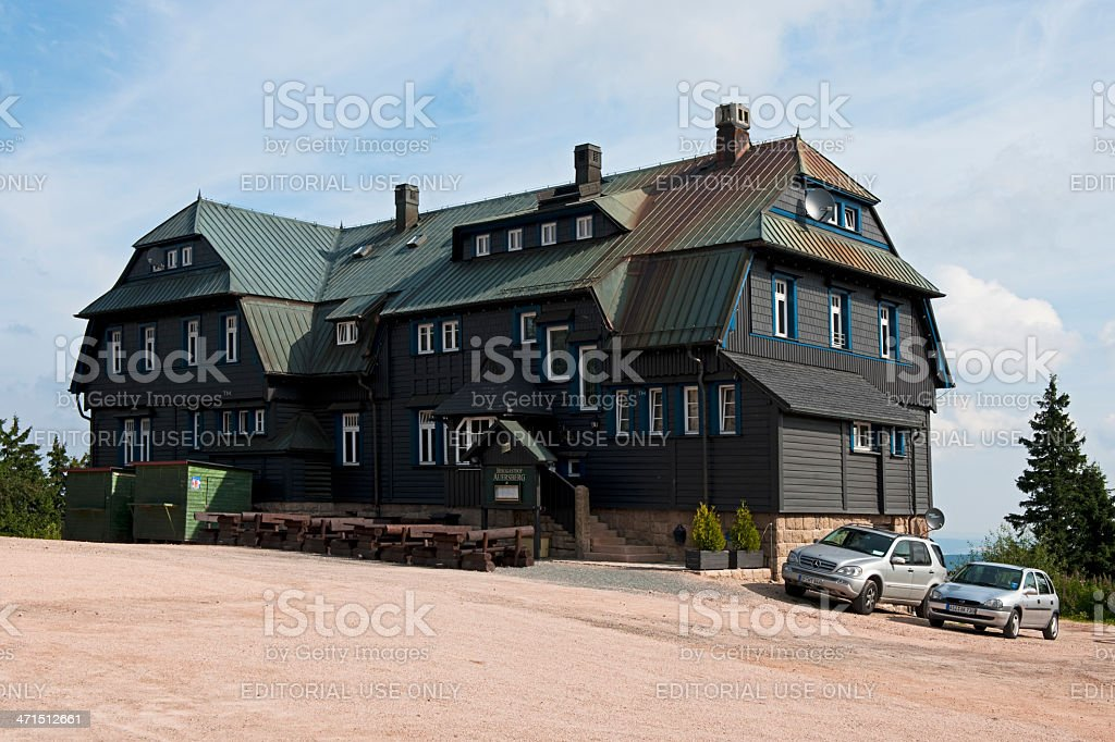 The Berggasthof Auersberg stock photo
