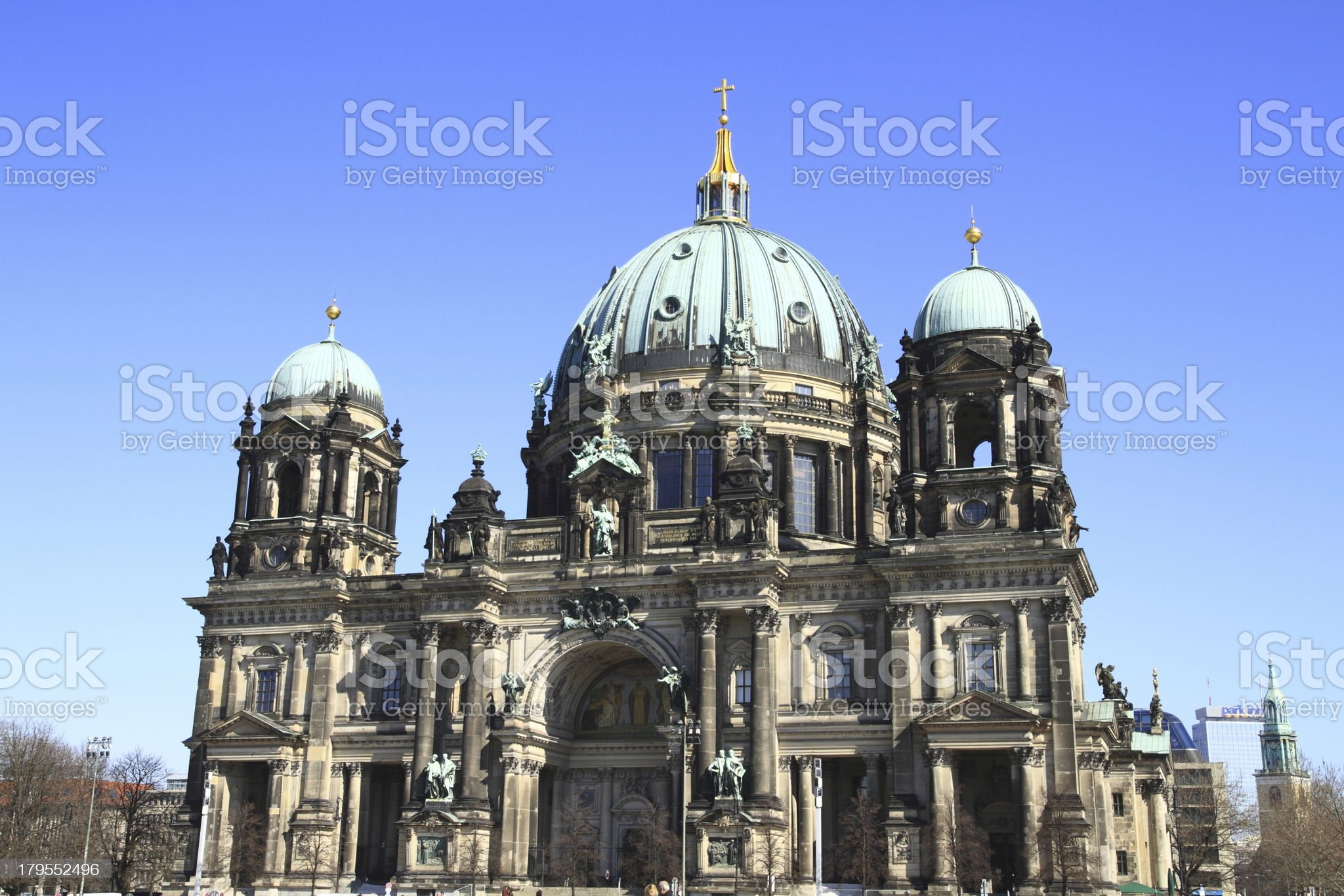 The Berlin Cathedral royalty-free stock photo