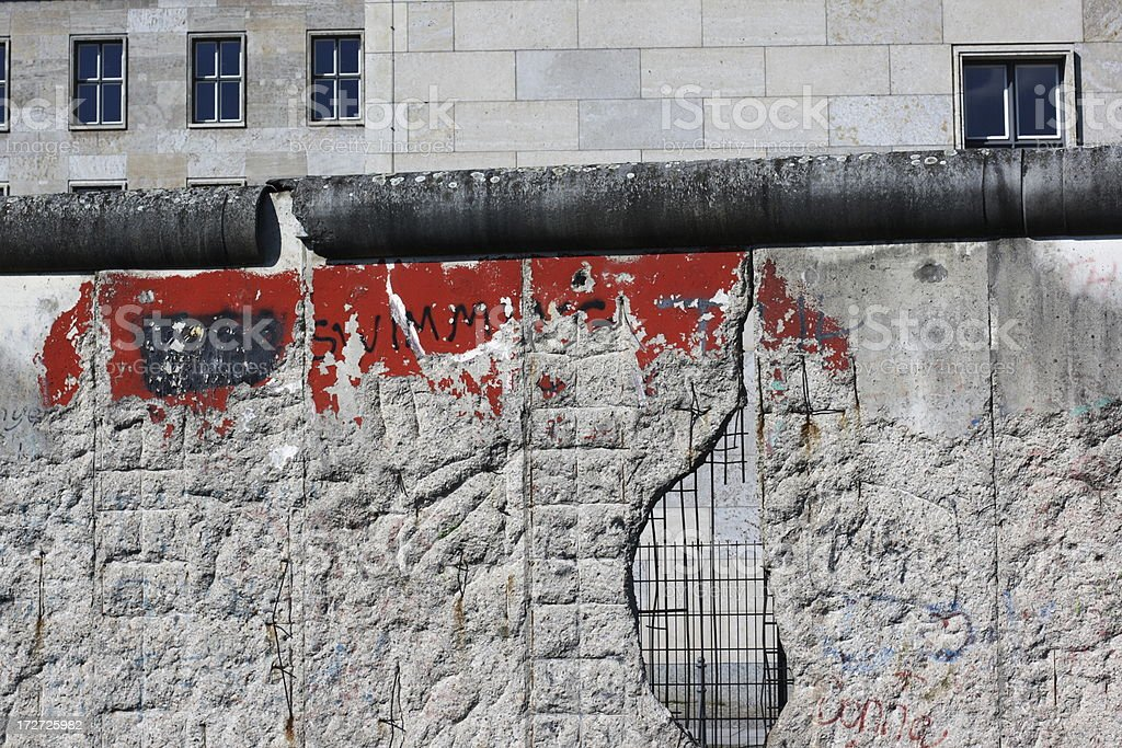 The Berlin Wall near Checkpoint Charly royalty-free stock photo