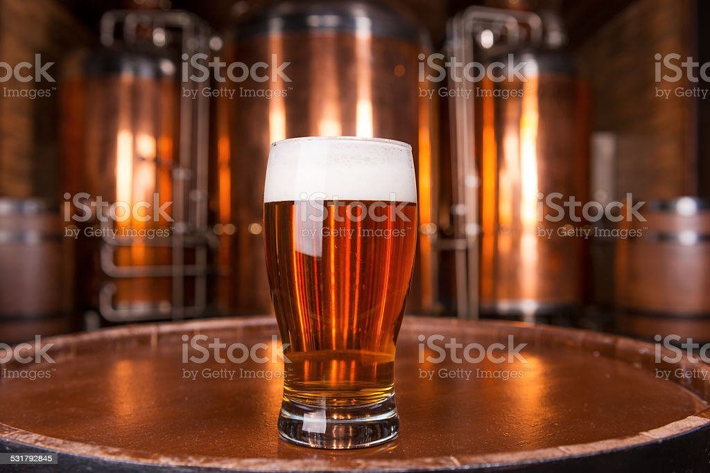The best beer in town. stock photo