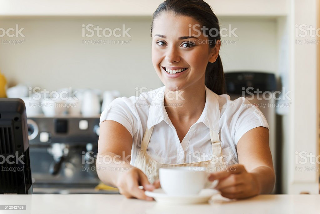 The best coffee in town for you. stock photo