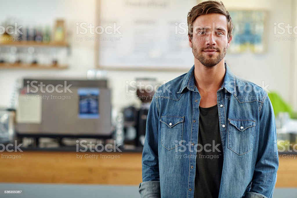 The best coffee shop on the block stock photo
