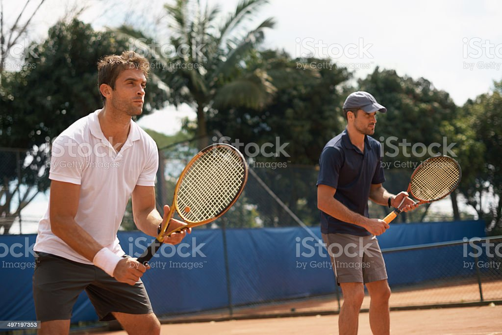 The best doubles team around stock photo