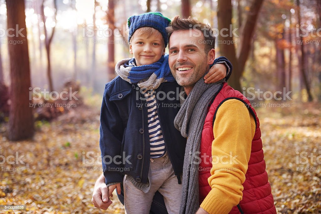 The best friendship is between father and son stock photo