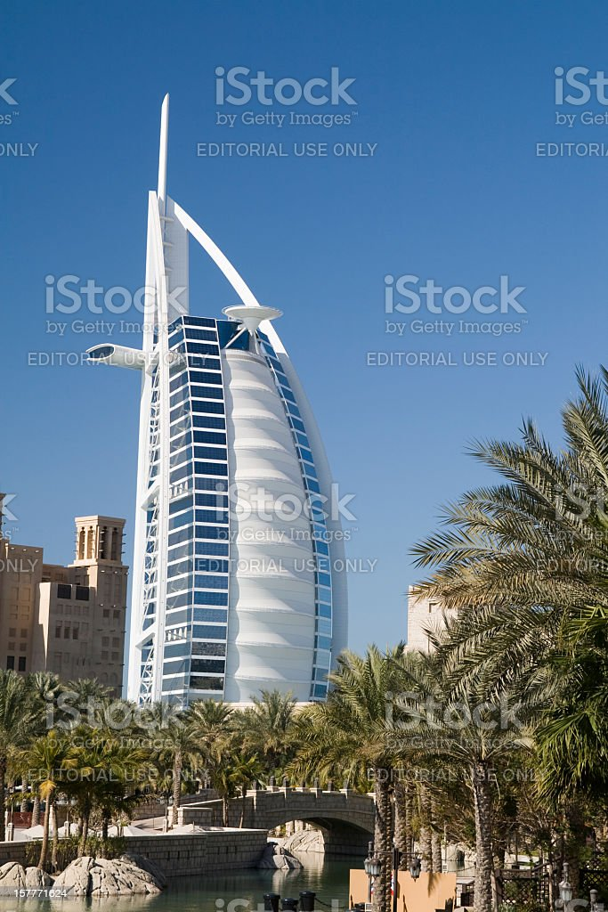the Best hotel in Dubai royalty-free stock photo