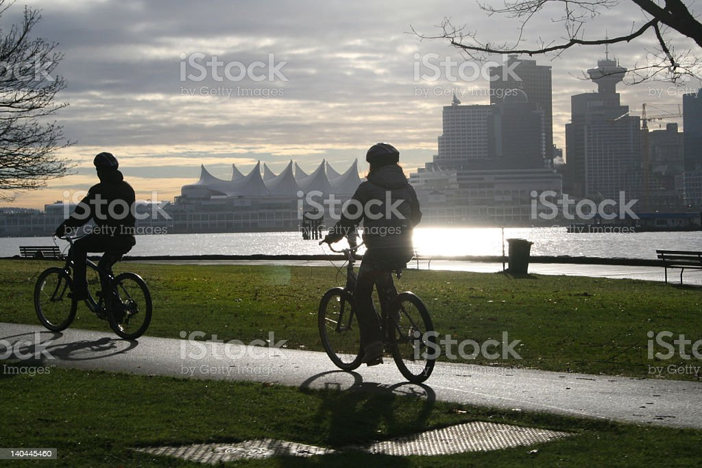 The Best of Vancouver Cycling stock photo