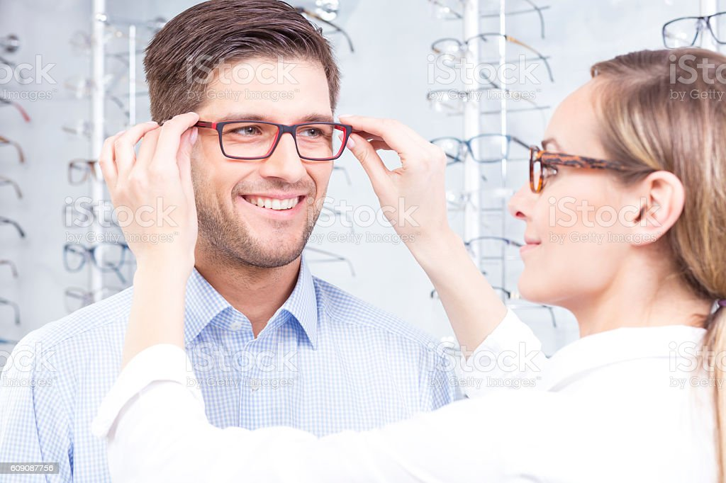 The best optical glasses stock photo