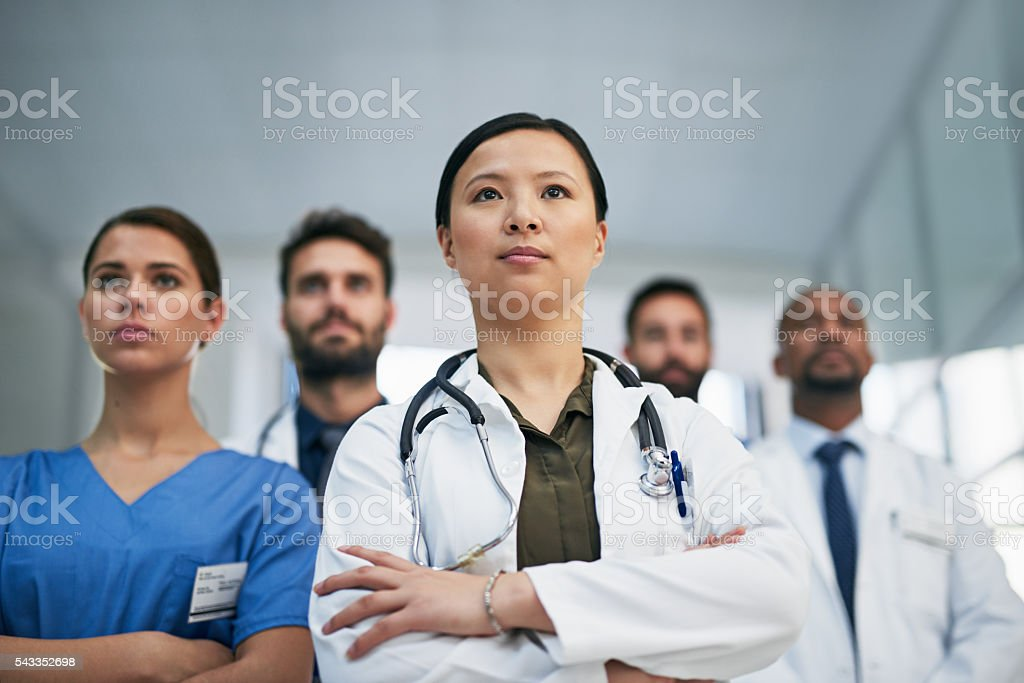 The best physicians in the field stock photo