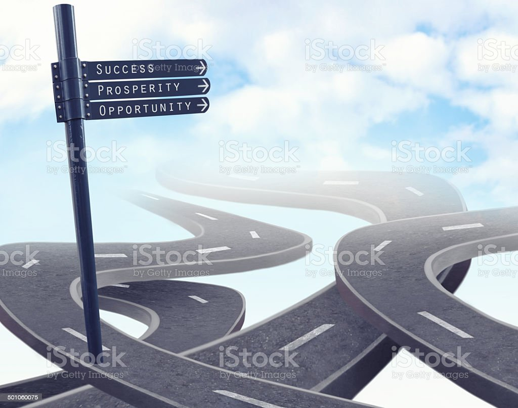 The best road isn't always the easiest stock photo