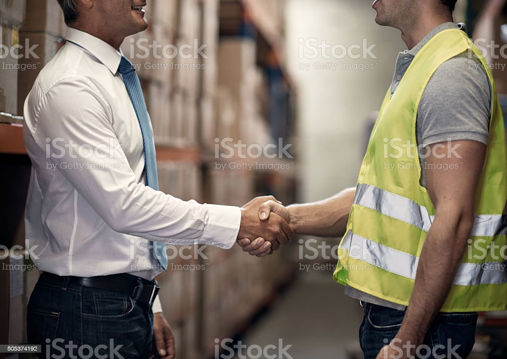 The best storage and distribution duo stock photo