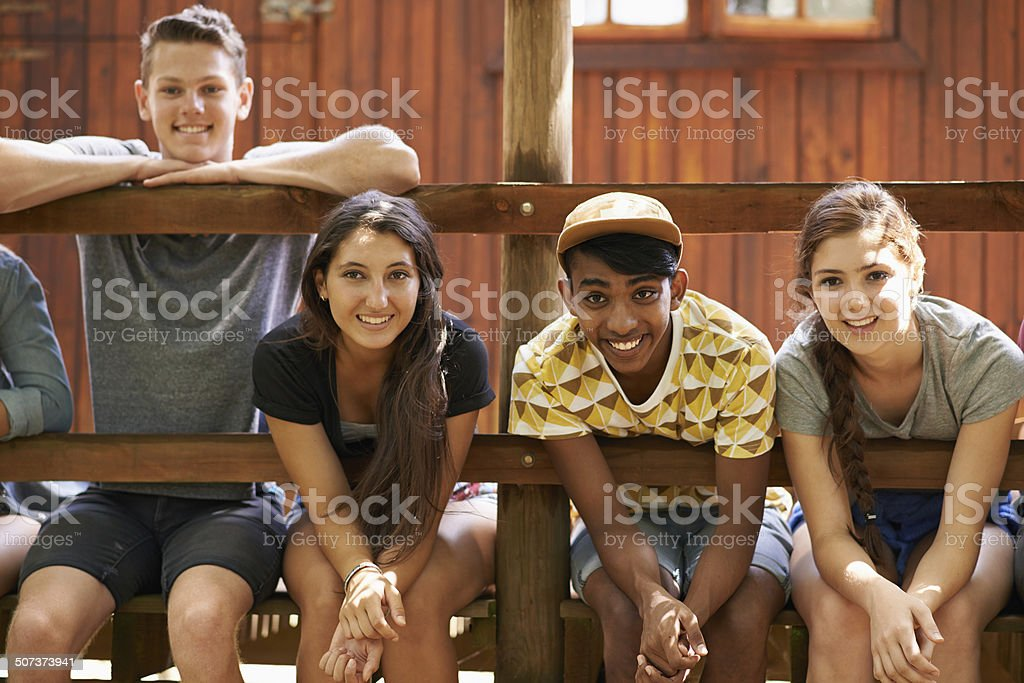 The best times are spent with friends stock photo
