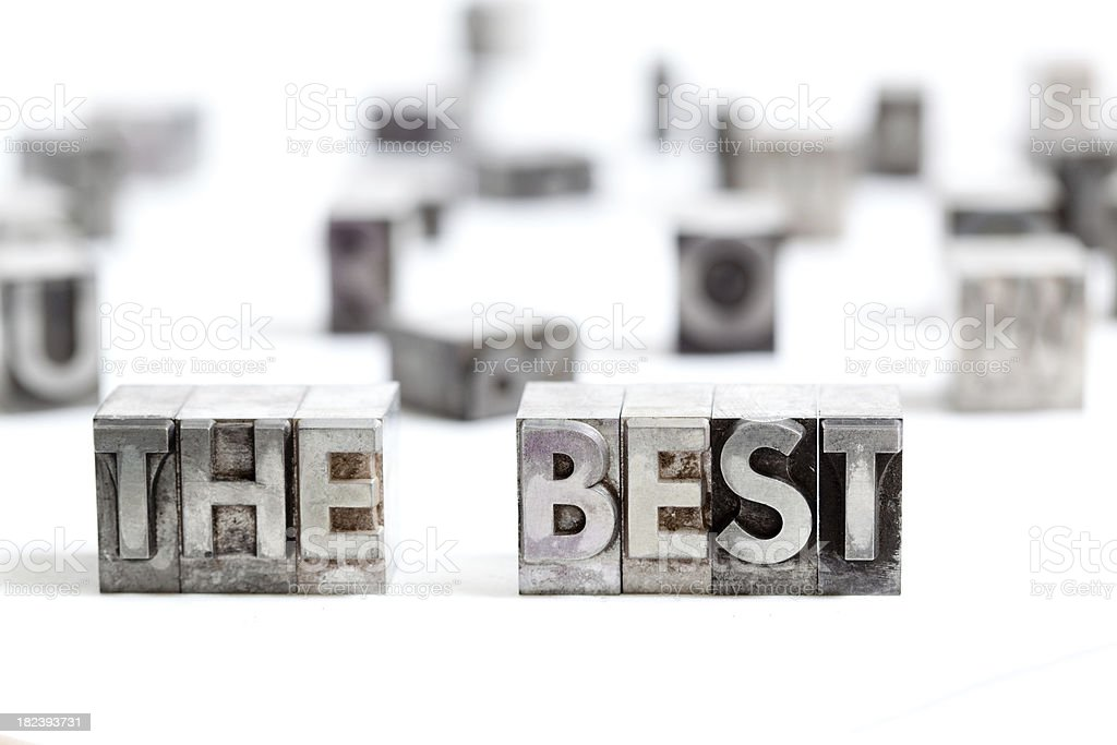 The best! Typography fonts XXL royalty-free stock photo